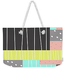Abstract Art Stripes And Dots Weekender Tote Bag by Ann Powell