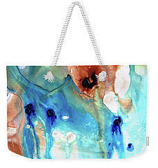 Weekender Tote Bag featuring the painting Abstract Art - The Journey Home - Sharon Cummings by Sharon Cummings