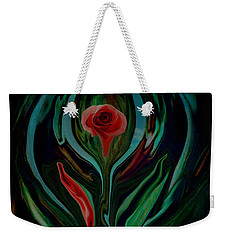 Weekender Tote Bag featuring the digital art abstract Art The Rose A Symbol Of Love  by Sherri Of Palm Springs