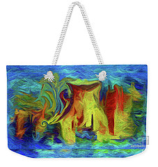Abstract Artgo With The Flow Weekender Tote Bag