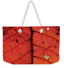 Abstract Autumn Leaf Weekender Tote Bag