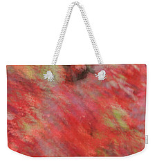 Abstract Autumn Red Maple Weekender Tote Bag