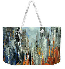 Weekender Tote Bag featuring the painting Abstract Autumn by Tatiana Iliina