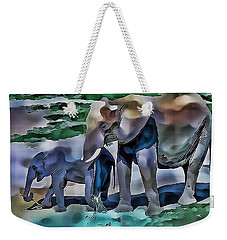 Abstract Baby Elephant  Weekender Tote Bag