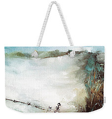 Abstract Barbwire Pasture Landscape Weekender Tote Bag