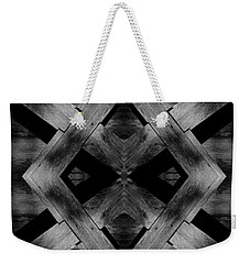 Weekender Tote Bag featuring the photograph Abstract Barn Wood by Chris Berry