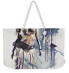 Abstract Bellydancer Weekender Tote Bag by Galen Valle