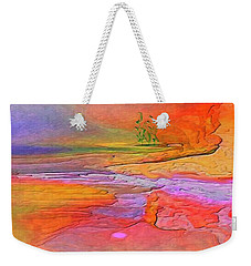 Weekender Tote Bag featuring the digital art Abstract Beyond The Sea by Sherri Of Palm Springs