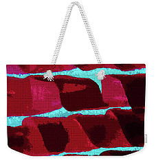 Weekender Tote Bag featuring the photograph Abstract Black Walnut Ink by Tom Janca