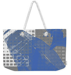 Abstract Blue And Grey 1 Weekender Tote Bag