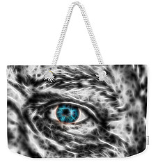 Weekender Tote Bag featuring the photograph Abstract Blue Eye by Scott Carruthers