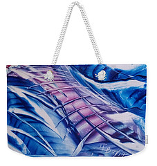 Abstract Blue With Pink Centre Weekender Tote Bag