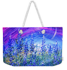 Abstract Bluebonnets Weekender Tote Bag