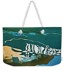 Abstract Boat Reflection Weekender Tote Bag
