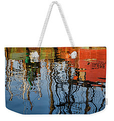 Abstract Boat Reflections Iv Weekender Tote Bag