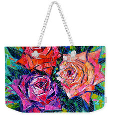 Abstract Bouquet Of Roses Weekender Tote Bag by Mona Edulesco