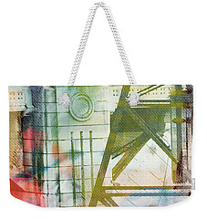 Abstract Bridge With Color Weekender Tote Bag by Susan Stone