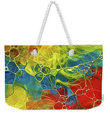 Abstract Bubble Feathers Weekender Tote Bag