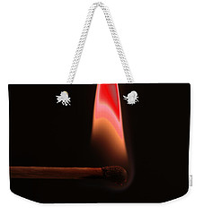 Abstract Burning Match Weekender Tote Bag