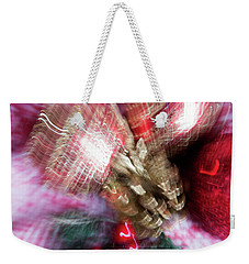 Weekender Tote Bag featuring the photograph Abstract Christmas 5 by Rebecca Cozart