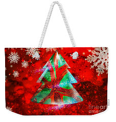 Abstract Christmas Bright Weekender Tote Bag