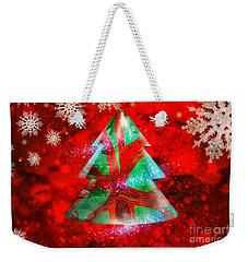 Abstract Christmas Bright Weekender Tote Bag
