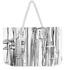 Weekender Tote Bag featuring the digital art Abstract City by Jessica Wright