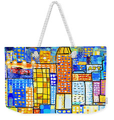 Abstract City Weekender Tote Bag