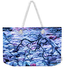 Abstract Claw Driftwood And Cobblestones At Cobblestone Beach, Acadia National Park Weekender Tote Bag