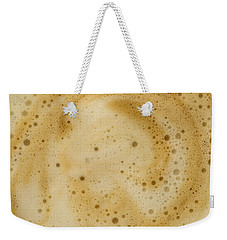 Weekender Tote Bag featuring the photograph Abstract Coffee by Brian Roscorla