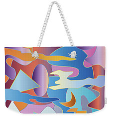 Abstract Colorful Sky Tones Dawn Sunset Daylight Evening Weekender Tote Bag
