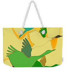 Abstract Cranes Weekender Tote Bag