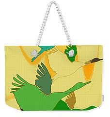 Abstract Cranes Weekender Tote Bag