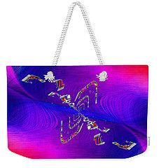 Weekender Tote Bag featuring the digital art Abstract Cubed 350 by Tim Allen