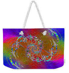 Weekender Tote Bag featuring the digital art Abstract Cubed 351 by Tim Allen