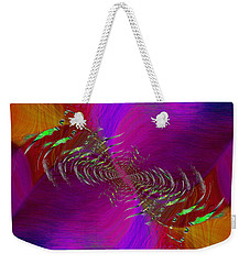 Weekender Tote Bag featuring the digital art Abstract Cubed 352 by Tim Allen