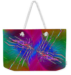 Weekender Tote Bag featuring the digital art Abstract Cubed 353 by Tim Allen