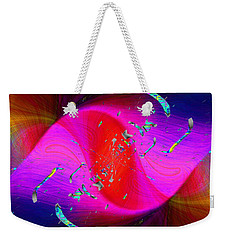 Weekender Tote Bag featuring the digital art Abstract Cubed 354 by Tim Allen