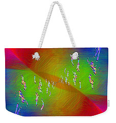 Weekender Tote Bag featuring the digital art Abstract Cubed 355 by Tim Allen