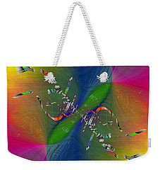Weekender Tote Bag featuring the digital art Abstract Cubed 356 by Tim Allen