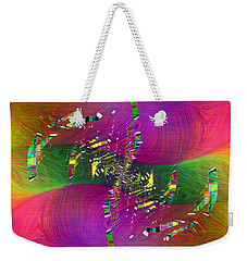 Weekender Tote Bag featuring the digital art Abstract Cubed 357 by Tim Allen