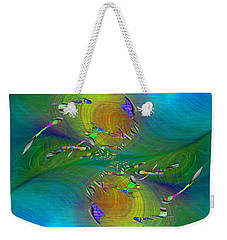 Weekender Tote Bag featuring the digital art Abstract Cubed 359 by Tim Allen