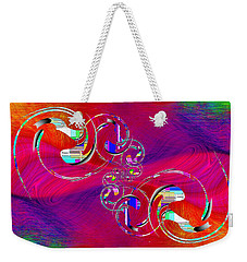 Weekender Tote Bag featuring the digital art Abstract Cubed 360 by Tim Allen
