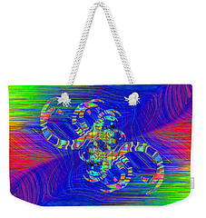 Weekender Tote Bag featuring the digital art Abstract Cubed 362 by Tim Allen