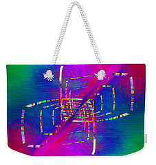 Weekender Tote Bag featuring the digital art Abstract Cubed 363 by Tim Allen