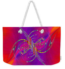 Weekender Tote Bag featuring the digital art Abstract Cubed 365 by Tim Allen