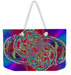 Weekender Tote Bag featuring the digital art Abstract Cubed 367 by Tim Allen