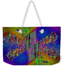Weekender Tote Bag featuring the digital art Abstract Cubed 368 by Tim Allen
