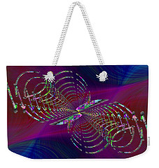 Weekender Tote Bag featuring the digital art Abstract Cubed 369 by Tim Allen