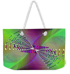 Weekender Tote Bag featuring the digital art Abstract Cubed 370 by Tim Allen